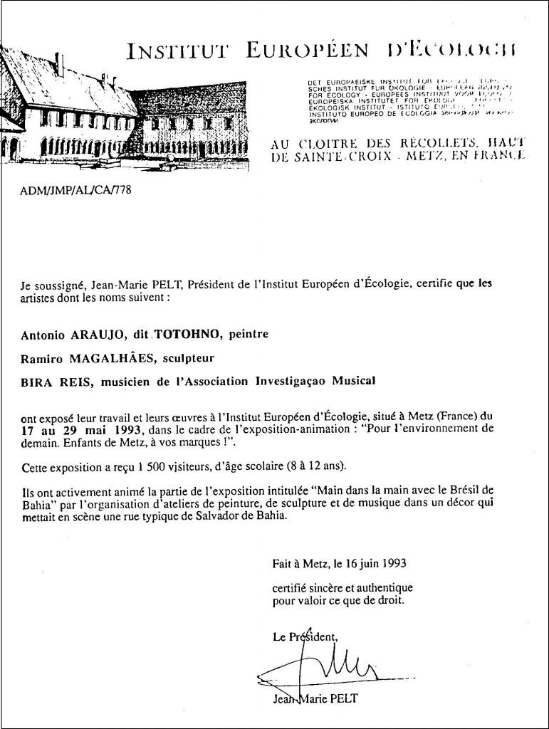 Institut Europeen Ecologie, 1993