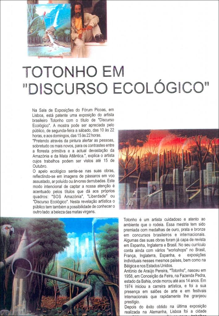 Discurso Ecológico, 2002