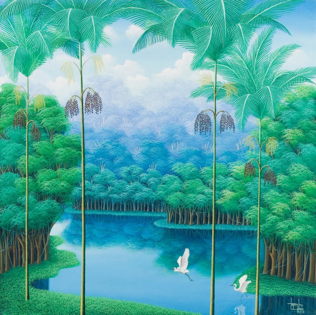 açaí, trees, Brazilian landscape, rain forest