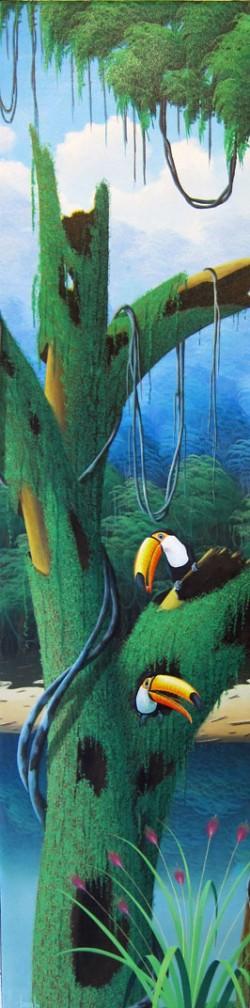 toucans in de the woods, tucano's na floresta