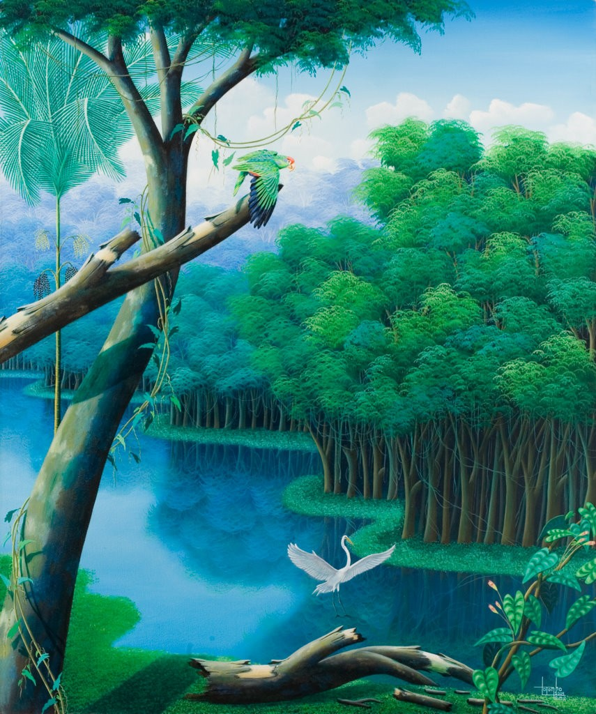 Brazilian rainforest, painting