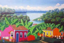 Brazilian rural country, painting