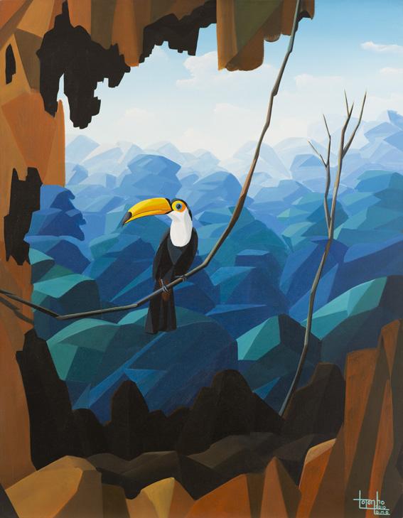 toucan, tucano, painting