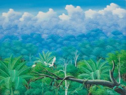 Brazilian rainforest, painting