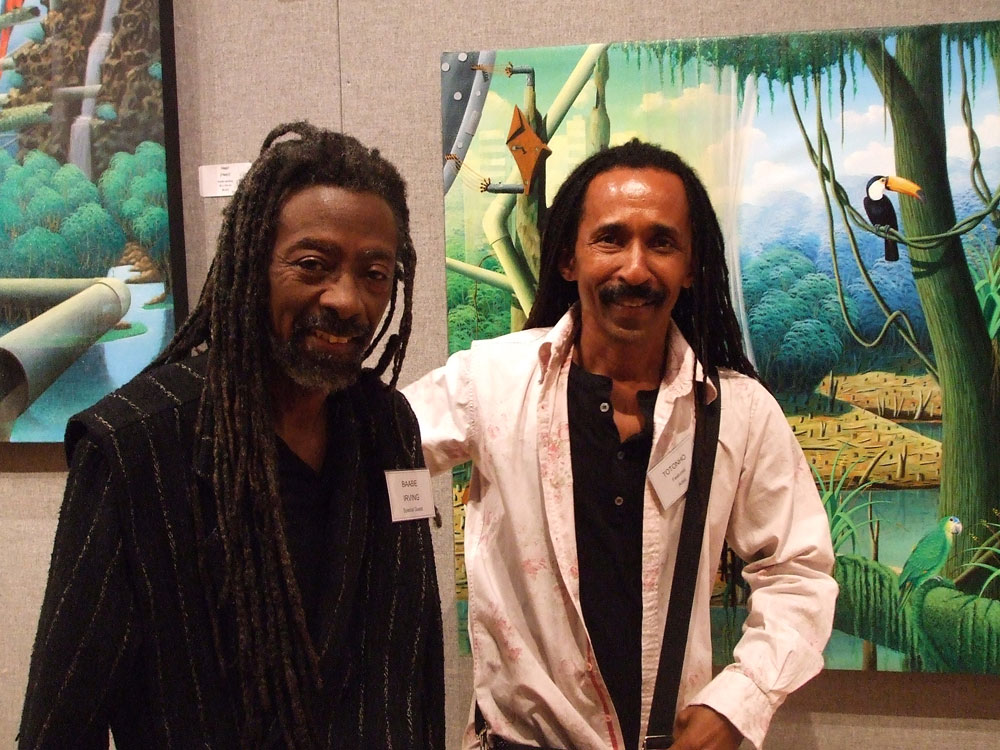 Musician Robert Irving III and Brazilian painter Totonho