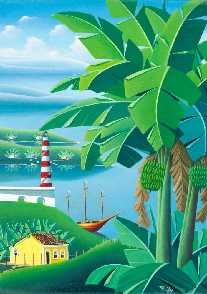 fine-art print Brazilian landscape with palm and banana trees by Totonho