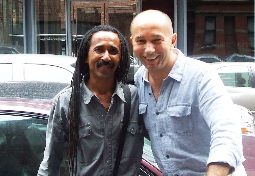Brazilian artist Totonho and photographer Roberto Dutesco, NYC, 2009