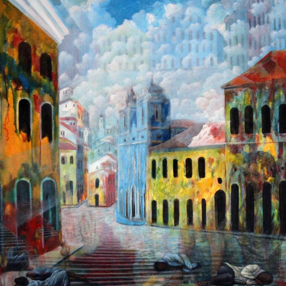 colonial buildings, Salvador, Bahia, Brazil, street-life,